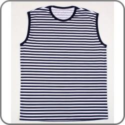 Koszulka żeglarska w paski bez rękawów